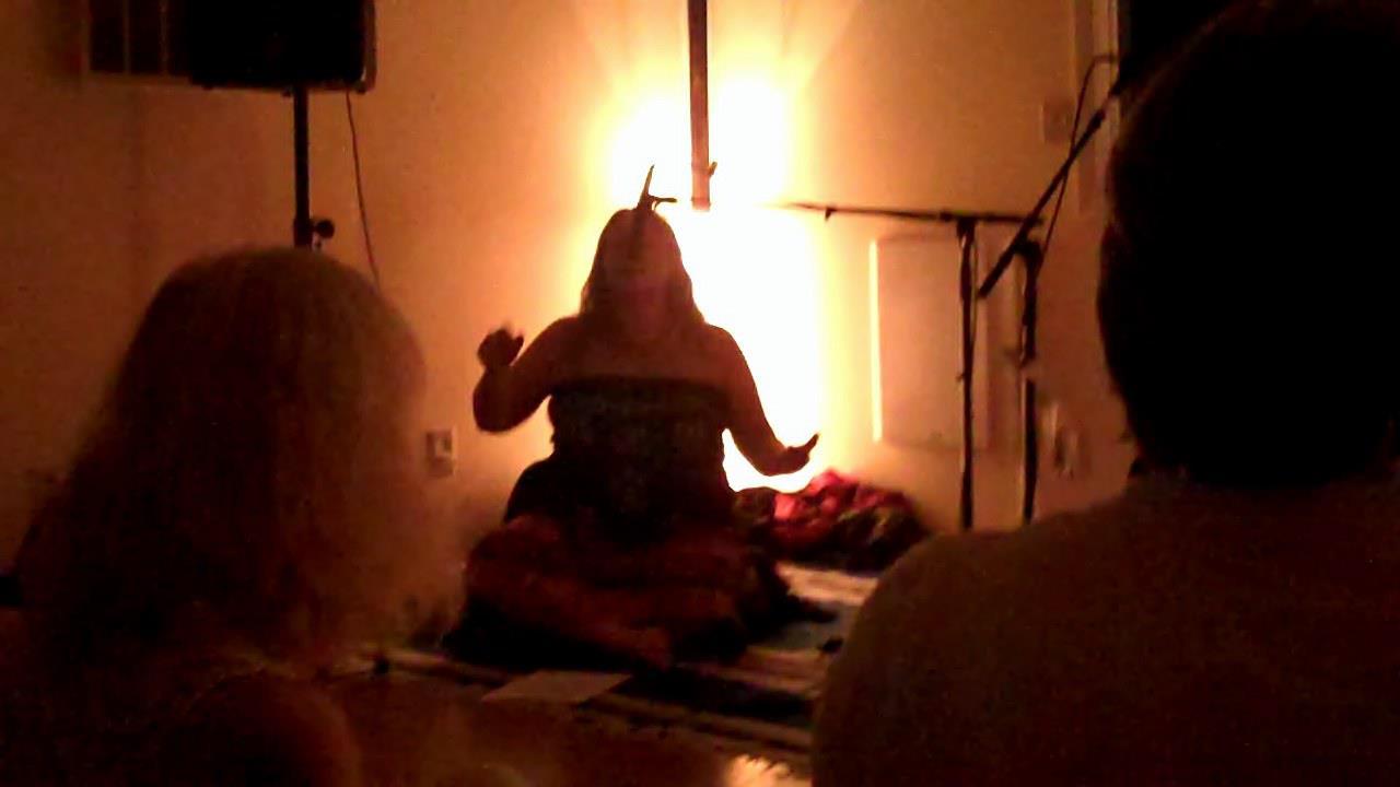 Angela chanting to Ganesha
