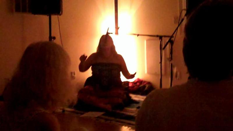 Angela chanting to Ganesha